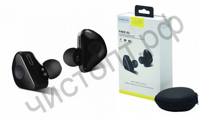Bluetooth гарнитура стерео FREE X2  вакуум