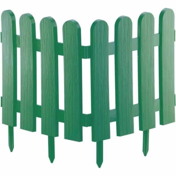 Забор декоративный №7 Штакетник, 7 секций, Цвет Зеленый
