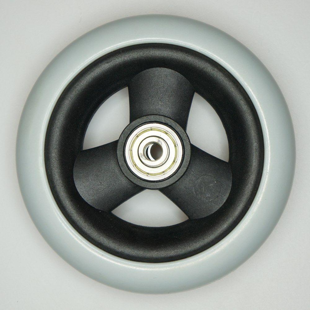 Колесо полиуретановое в сборе 125 х 30 мм