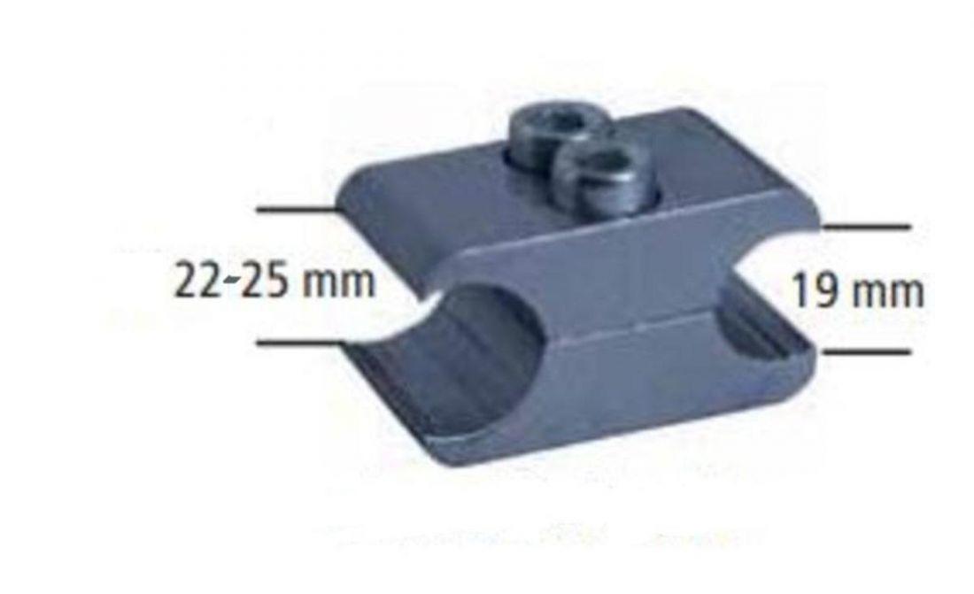 Блок монтажный для крепления тормоза, 22мм, алюминий