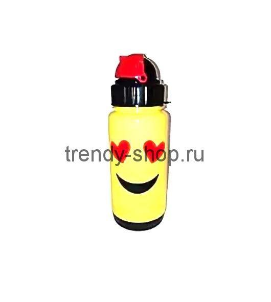 Бутылка-поильник с уплотнёнными стенками СМАЙЛИК, 300 мл