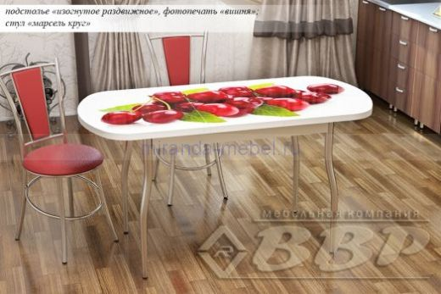 Стол кухонный раздвижной фотопечать