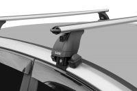 Багажник на крышу Hyundai Solaris (c 2017г, sedan), аэродинамические дуги (53 мм)