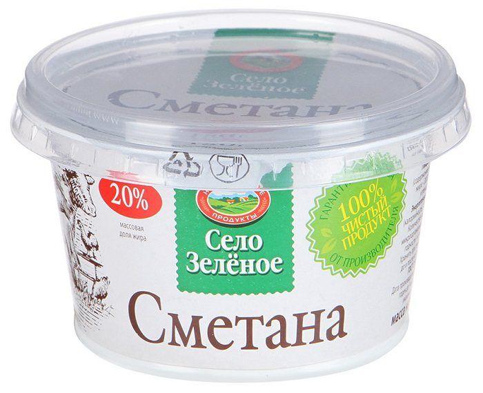Сметана 20% 180г Село зеленое