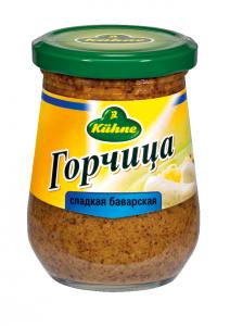 """Горчица сладкая баварская 250 гр ст/б """"Kuhne"""""""