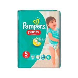 Подгузники Памперс трусики Pants Junior (12-17кг) для мал. и дев. Микро Упаковка 15