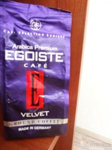Кофе EGOISTE Velvet молотый. Пакет 200 гр