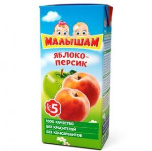 Нектар Фрутоняня Малышам 0,33 л Яблоко-персик неосветл (Прогресс)