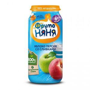 Пюре Фрутоняня яблоко-персик натур. м/у 0,09 кг