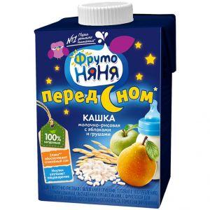 Каша Фрутоняня молочно-рисовая с яблоком и грушей т/п ДП 500гр