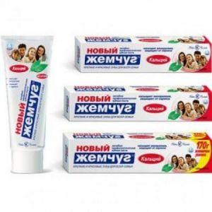 Зубная паста Новый жемчуг 100 мл/136 гр Кальций