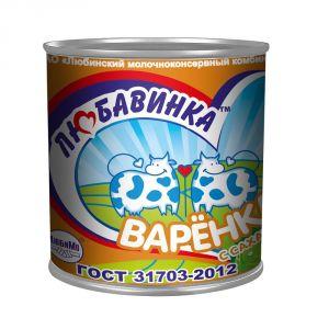 Молокосодержащий продукт Сгущенка с сахаром вареная 380 гр ТМ Любавинка
