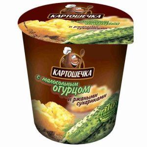Пюре Картошечка 50 гр ржан. сухар.+огур.малосос. т/с
