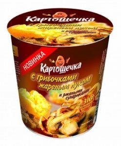 Пюре Картошечка 50 гр ржан. сухар.+грибы+жар.лук т/с
