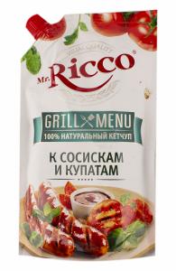 Кетчуп Mr.Ricco 570гр К сосискам и купатам Grill Menu