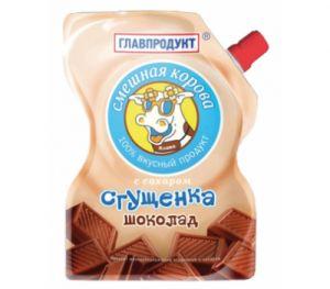 Молокосодержащий продукт Сгущеное молоко 250 гр с ароматом шоколада ГлавПродукт дойпак
