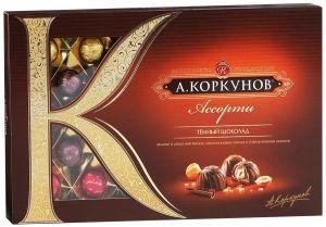 Конфеты Коркунов темн. и мол. шоколад прем. 256г