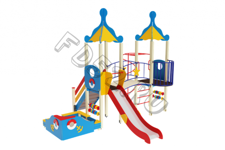 Детский игровой комплекс «Морской» H=1500 5000х4750х4220