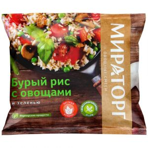 Бурый рис с овощами и зеленью 400 гр (Vитамин)