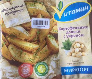 Картофельные дольки с укропом 400 гр (Vитамин)