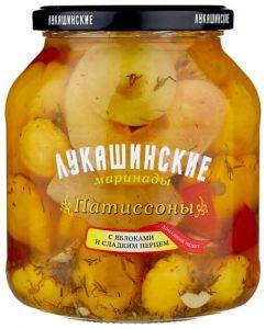 Патиссоны с яблоками и сладким перцем марин. 670 гр Лукашинские
