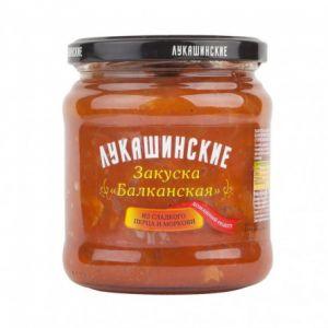 Закуска Балканская 450 гр из сл. перца и моркови Лукашинские