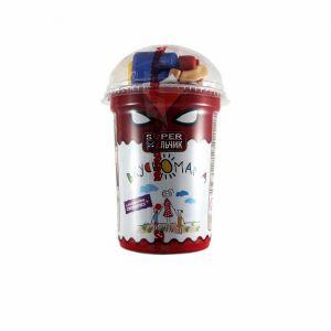 Кукурузные шарики в шоколаде Супер мальчик-сюрприз в стакане 30гр