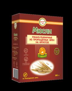 Мюсли ржано-пшеничные из пророщенных зерен на фруктозе 300гр*17шт (ВкусноЕм!®)