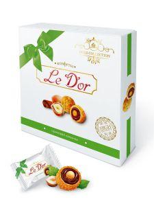 Конфеты Le D'or с ореховой начинкой в вафельной крошке ТВ