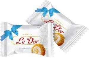 Конфеты Le D'or со сливочной начинкой в вафельной крошке ТВ