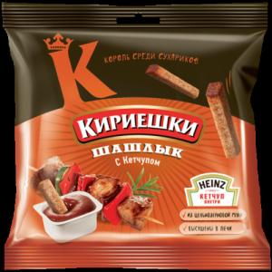 Кириешки Шашлык + кетчуп Heinz 60г.