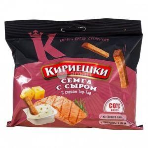 Кириешки Сыр Семга+соус тар-тар 60г.