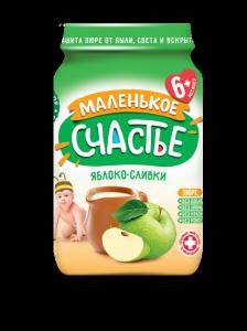 Пюре Маленькое счастье 180г Яблоко/Банан ст/б