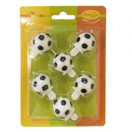 Свечи Футбольные мячи (6 шт)