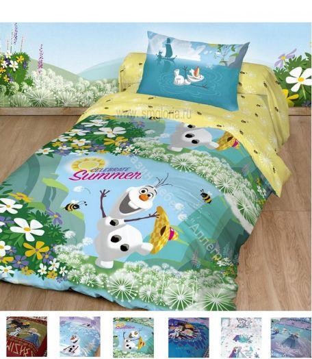 """Детское постельное белье """"Холодное сердце"""" Поплин 1,5-спальный комплект (наволочка 50х70)"""