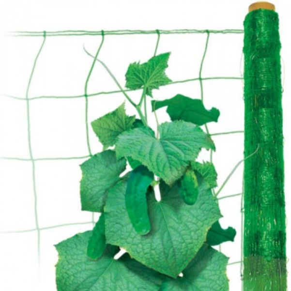 Сетка шпалерная для огурцов и вьющихся растений
