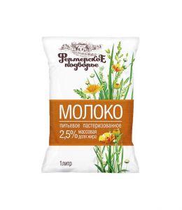 Молоко ФЕРМЕРСКОЕ ПОДВОРЬЕ финпак 2,5% 1л