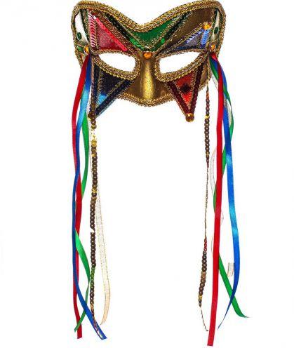Карнавальная маска Цветная