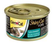 GimCat ShinyCat консервы для кошек из цыпленка с креветками 70 г