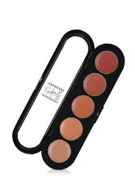 Make-Up Atelier Paris Lipsticks Palette 06 Brown orange Палитра помад из 5 цветов №06 восточно-бежевая гамма