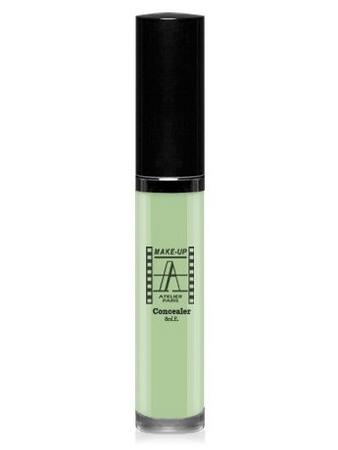 Make-Up Atelier Paris Fluid Concealer Olive  FLWACV1 Green almond Корректор-антисерн флюид водостойкий CV1 зеленый миндаль