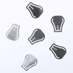 металлические скрепки с логотипом