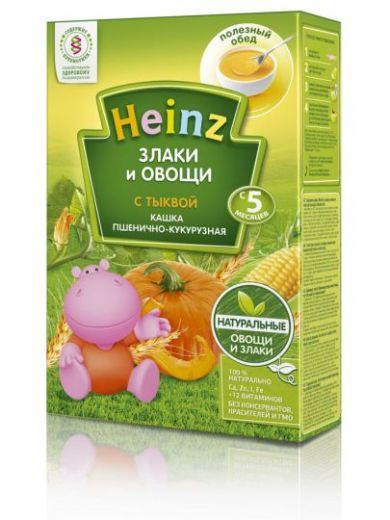Каша пшенично-кукурузная с тыквой Heinz 250 г, с 5 месяцев