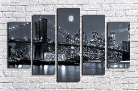 Модульная картина город 7