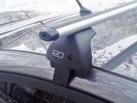 Багажник на крышу Hyundai Accent, Евродеталь, аэродинамические дуги