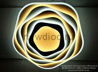 Управляемый светодиодный светильник GEOMETRIA 611 158Вт-9500Лм 500мм пульт 6/3/4000K Oreol