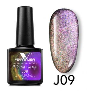 """Гель лак Venalisa """"Кошачий глаз - 9D Galaxy"""" Магнитный гель-лак #09"""