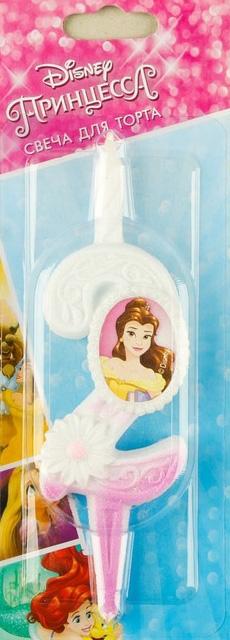 Свеча двойка Принцесса Disney