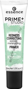 Essence - праймер-корректор покраснений prime+ studio redness correcting + pore minimizing primer