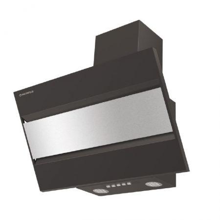 Вытяжка наклонная MAUNFELD BRIDGE 50 черный/вставка сатин